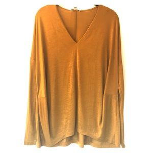 COS long sleeved V-neck top size S